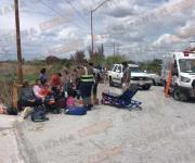Lesionados más de 20 indocumentados en un choque