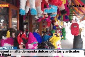 Presentan alta demanda dulces piñatas y artículos de fiesta