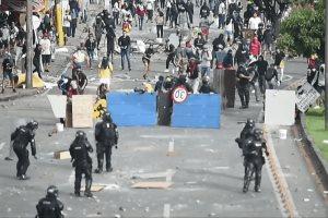 Represión contra protestas en Colombia