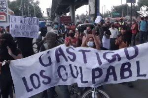 Protestan por desplome en L12 del Metro