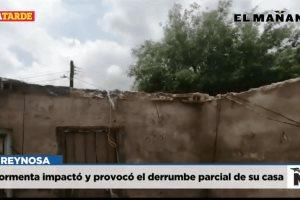 Tormenta impactó y provocó el derrumbe parcial de su casa