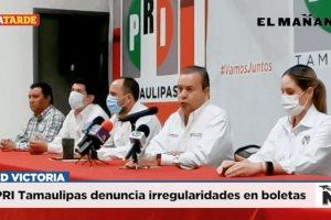 PRI Tamaulipas denuncia irregularidades en boletas