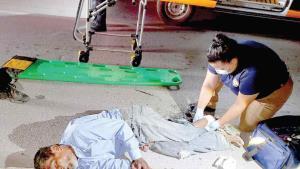 Abuelito muere atropellado