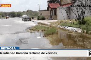 Desatiende Comapa reclamo de vecinos