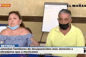 Lamentan familiares de desaparecidos más atención a extranjeros que a mexicanos