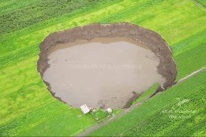 Se forma una Cascada por lluvia en el Socavón de puebla, actualización  (21 Julio 2021)