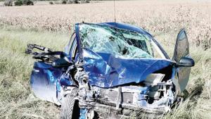 Rescatan a conductora
