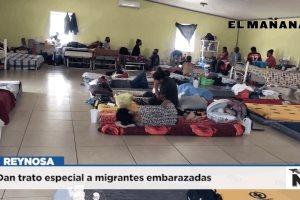 Dan trato especial a migrantes embarazadas