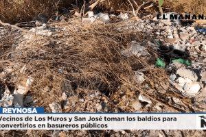 Contaminan colonias con desechos y basura