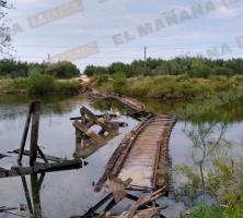 Colapsa Puente Negro; reportan 1 lesionado