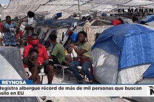 Registra albergue récord de más de mil personas que buscan asilo en EU