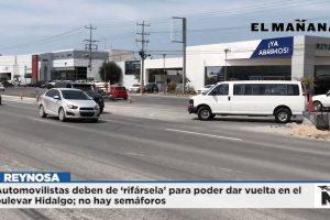 Bulevar Hidalgo sin semáforo