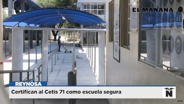 Certifican al Cetis 71 como escuela segura