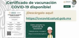 ¿Ya obtuvo su certificado de vacunación?